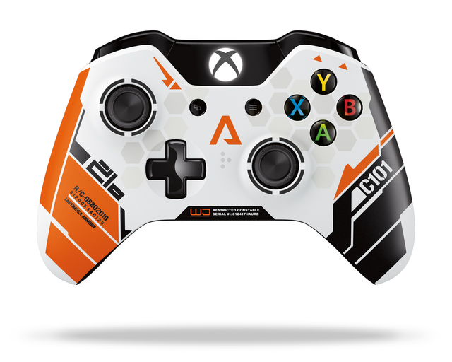 titanfall aura sa manette custom titanfall xbox one. Black Bedroom Furniture Sets. Home Design Ideas