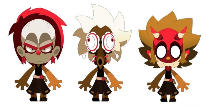 Maskemane dans ses trois versions