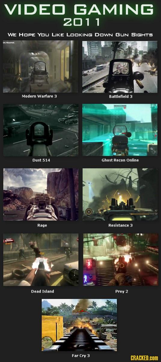 2011 : L'année des FPS ?