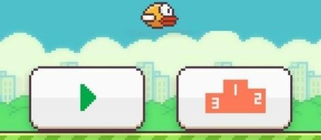 Flappy Bird - Ecran de démarrage