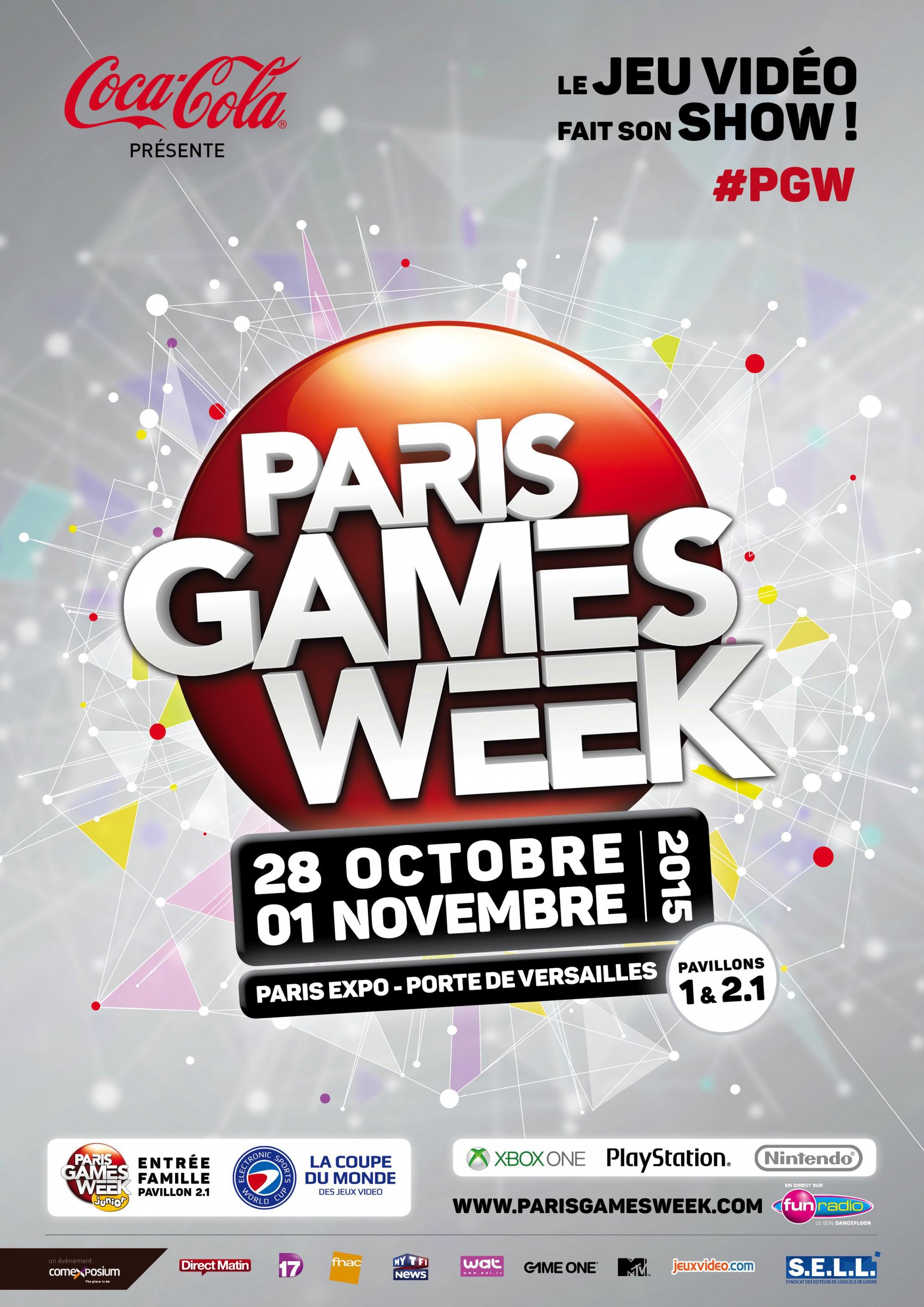 Poster de la Paris Games Week 2015
