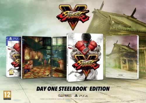 Street Fighter V - Day One Edition + Steelbook