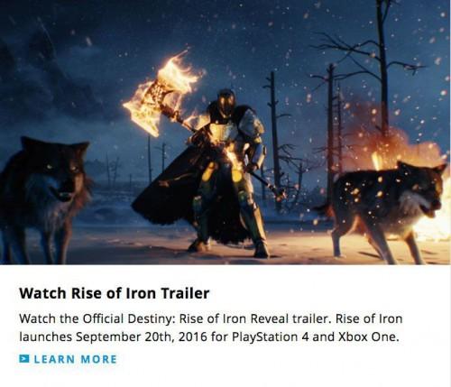 Destiny : Rise of Iron