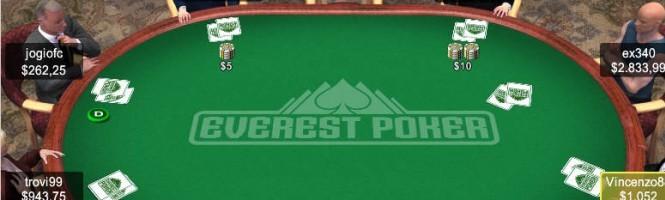 Une partie de Poker sur l'Everest.