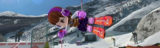 Mange la neige sur Wii