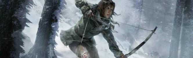 Lara Croft fait du ski