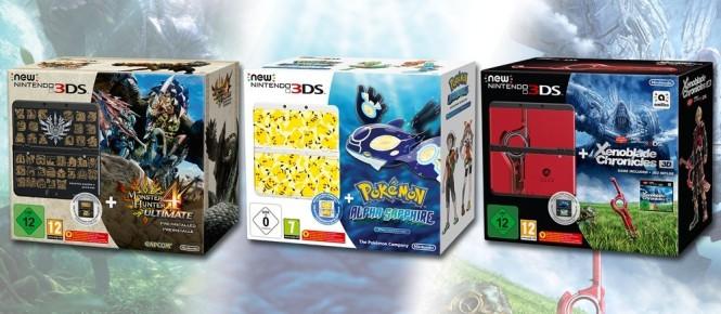 La New 3DS s'offre trois nouveaux packs
