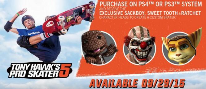 Tony Hawk's Pro Skater 5 perd la tête sur PS4 et PS3