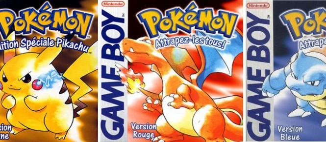 Les trois premiers Pokémon sur Console Virtuelle