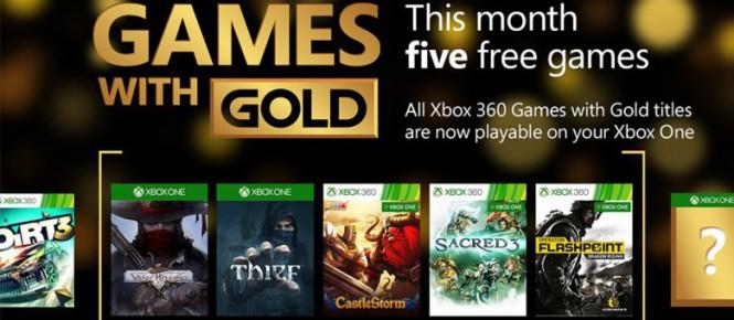 Cinq jeux pour le Games With Gold