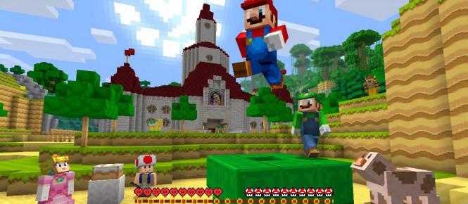 Mario arrive dans Minecraft Wii U