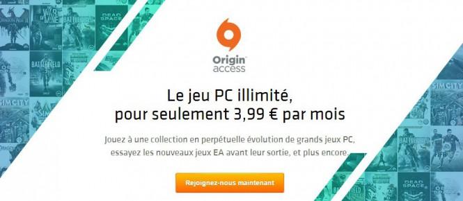 Du nouveau pour l'Origin Access