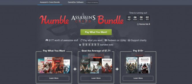 Un Humble Bundle spécial Assassin's Creed