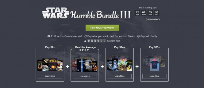 Du Star Wars dans le Humble Bundle