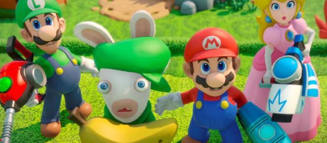 Mario + Lapins Crétins parle graphismes