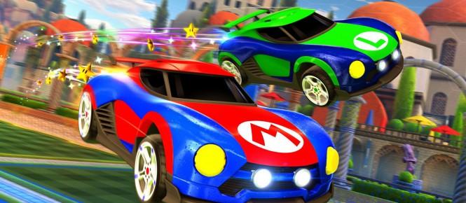 Rocket League s'offre des bagnoles Mario, Luigi et Samus !
