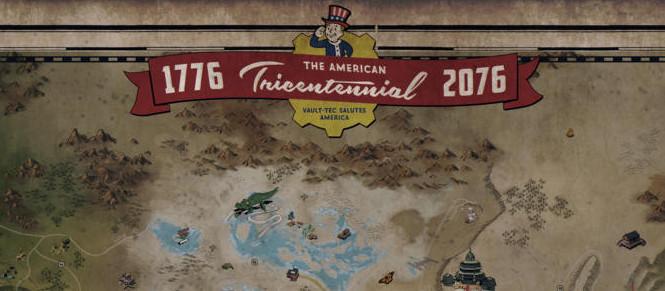 Fallout 76 : la carte accompagnée de gameplay