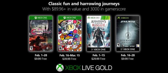 Games with Gold : les jeux de février