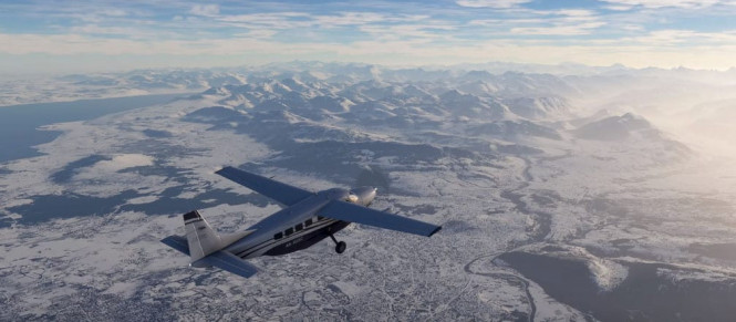 Microsoft Flight Simulator : un trailer enneigé