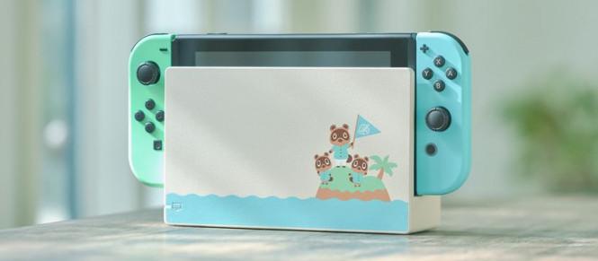 Une Switch aux couleurs d'Animal Crossing