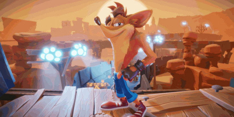Crash Bandicoot 4 : It's About Time : le poids sur Switch