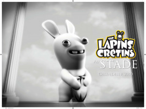The lapins crétins au stade - Wii